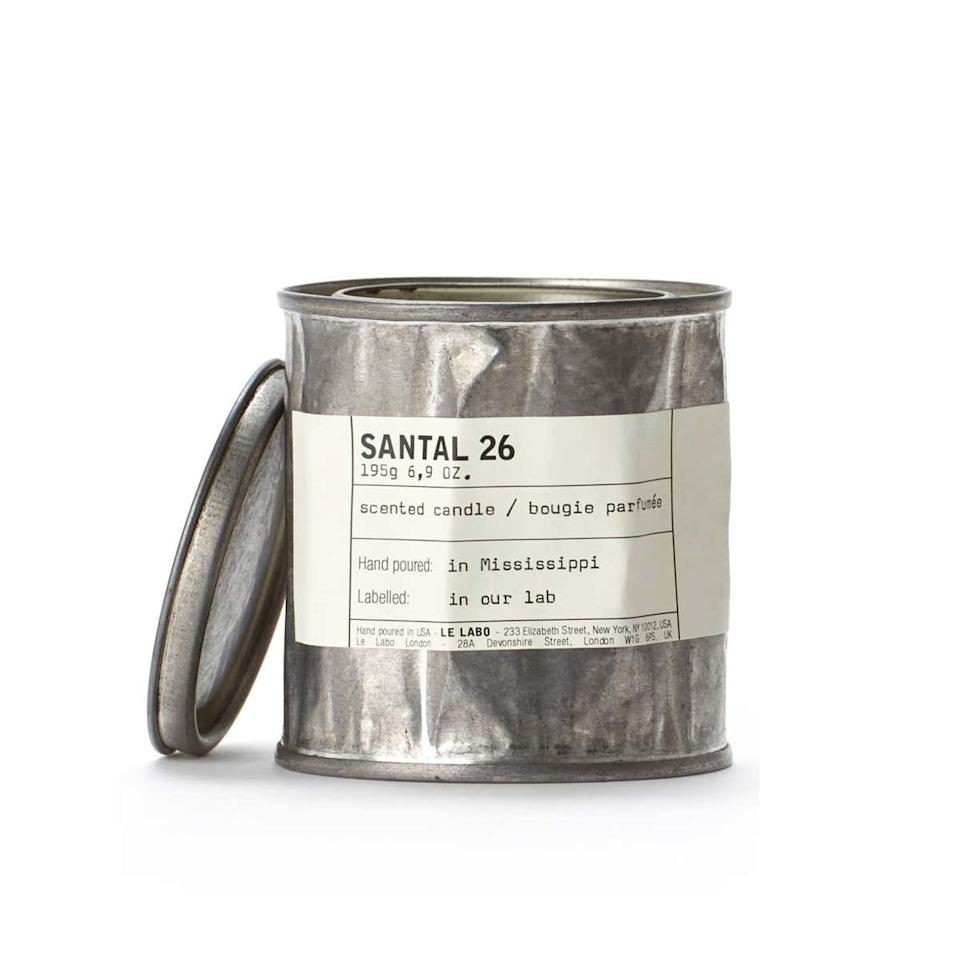 """If your little bro's apartment is still stuck in college days, this chic candle will do its best to cover up the lingering smell of dirty socks and pizza boxes. $65, Nordstrom. <a href=""""https://shop.nordstrom.com/s/le-labo-santal-26-vintage-tin-candle/4344315/full"""">Get it now!</a>"""