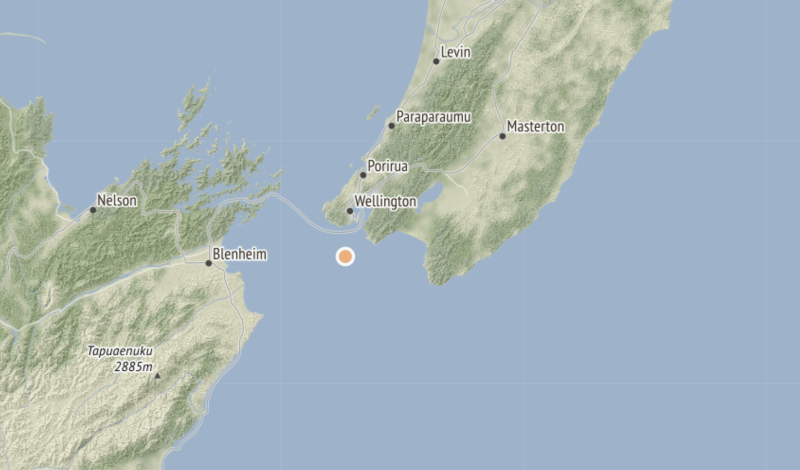 The quake struck 20km from Wellington. Source: GeoNet