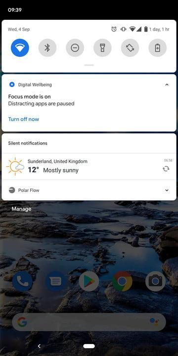 how to use focus mode in android 10 3