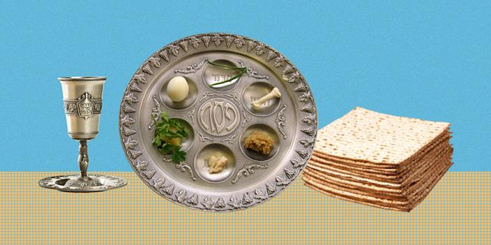 Each of the six items on the Seder plate have a specific meaning.  (TODAY Illustration / Getty Images)