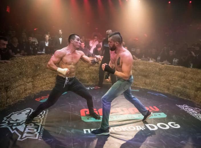 """""""Top Dog"""" bare-knuckle boxing tournament in Moscow"""