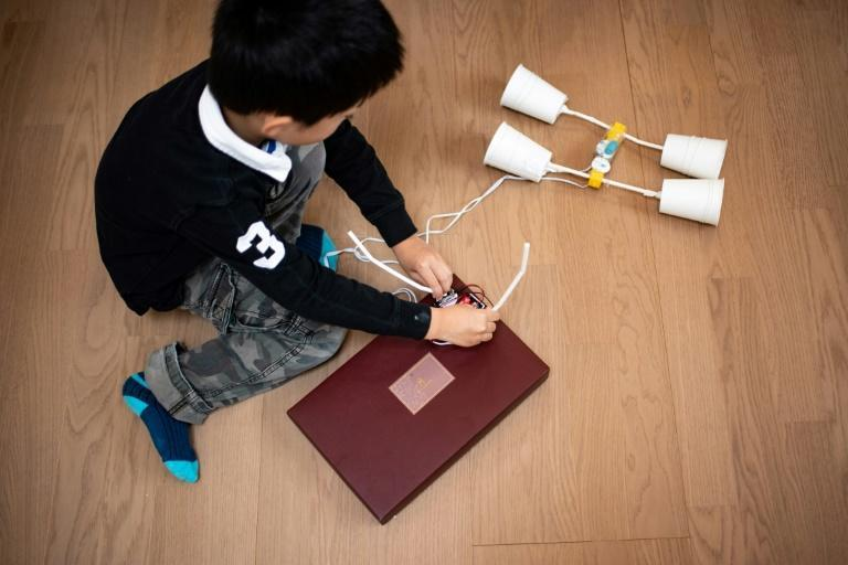 Akito Takahashi got a Yukai robot-building kit from his parents as a way to stay occupied during the pandemic