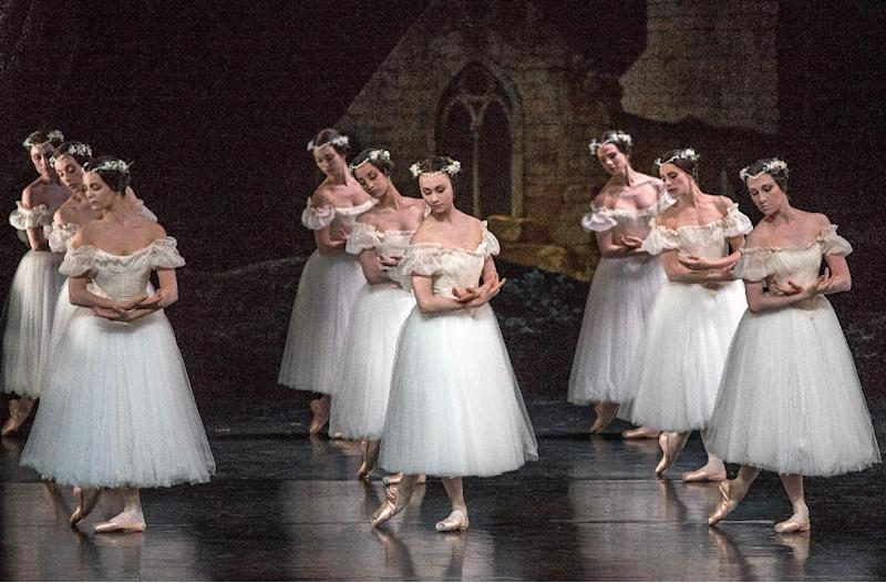"This July 13, 2012 photo released by the Lincoln Center Festival shows members of the Paris Opera Ballet performing in ""Giselle"", presented by Lincoln Center Festival 2012 at the David H. Koch Theater in New York. (AP Photo/Lincoln Center Festival, Stephanie Berger)"