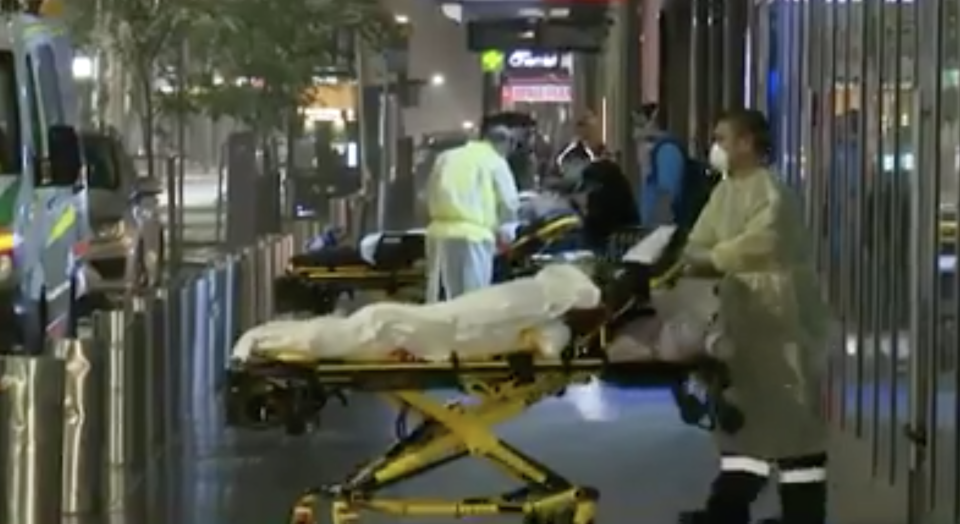 The three children are shown before being taken to hospital. Source: Nine/The Today Show