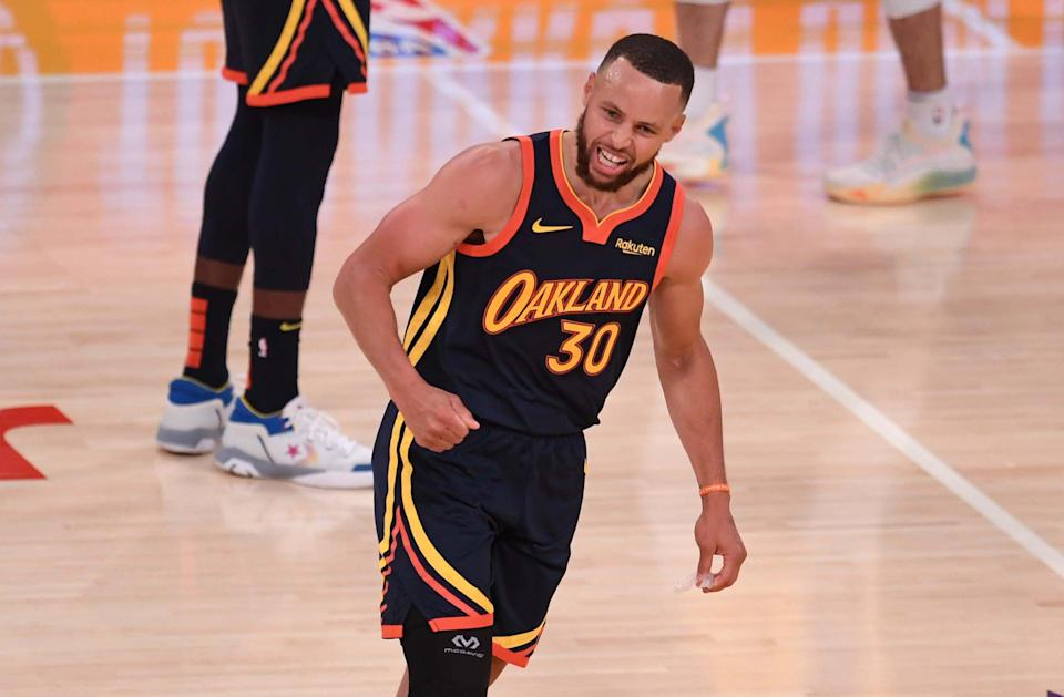 Stephen Curry will become the first NBA player to sign two $200 million contracts. (Keith Birmingham/MediaNews Group/Pasadena Star-News via Getty Images)