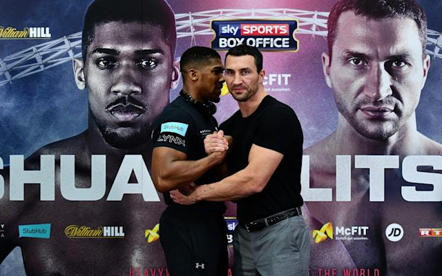 <span>Joshua is the favourite against Klitschko </span>