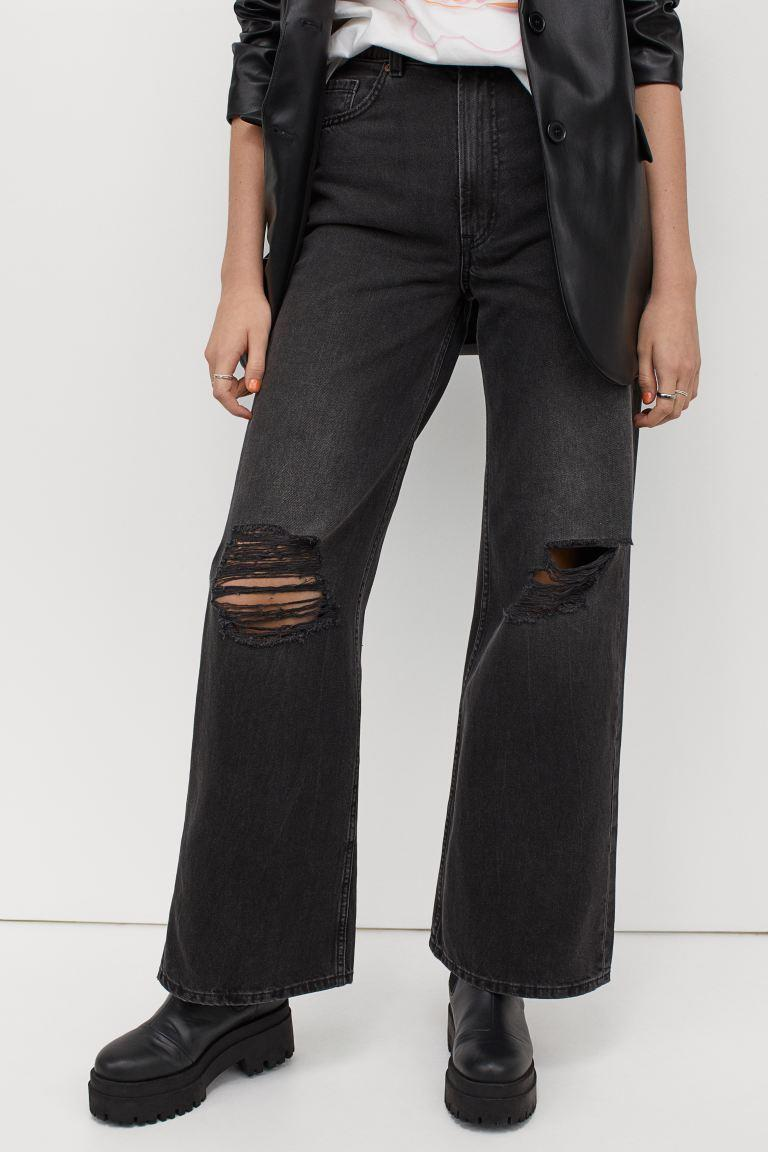 Wide High Jeans. Image via H&M.