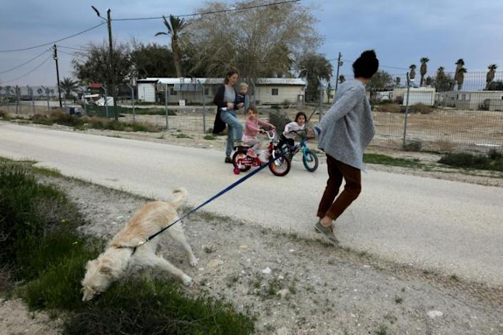 Under the Trump plan, small places like Kedem Arava could become towns or even cities (AFP Photo/MENAHEM KAHANA)