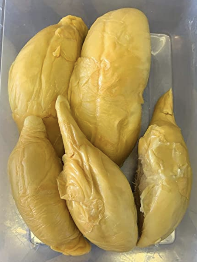 Fresh Durian Delivery D13 x 800g (freshly packed durian) without shell, S$39.90. PHOTO: Amazon