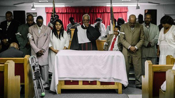 PHOTO: The Rev. Gerald Toussaint leads a service at Morning Star Baptist Church, in Opelousas, La., April 7, 2019. (William Widmer/The New York Times/Redux)
