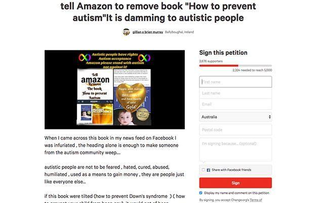 Gillian's petition over the book is gathering steam. Photo: change.org