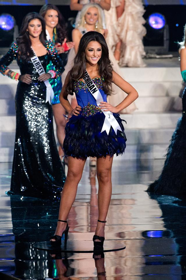 Miss Michigan USA 2012, Kristen Samantha Danyal from Detroit, is a top 16 semifinalist vying for the title of Miss USA 2012 and the Diamond Nexus Labs crown, during the 2012 MISS USA Competition from the Planet Hollywood Resort & Casino Theatre for the Performing Arts, in Las Vegas, Nevada on Sunday, June 3, 2012.