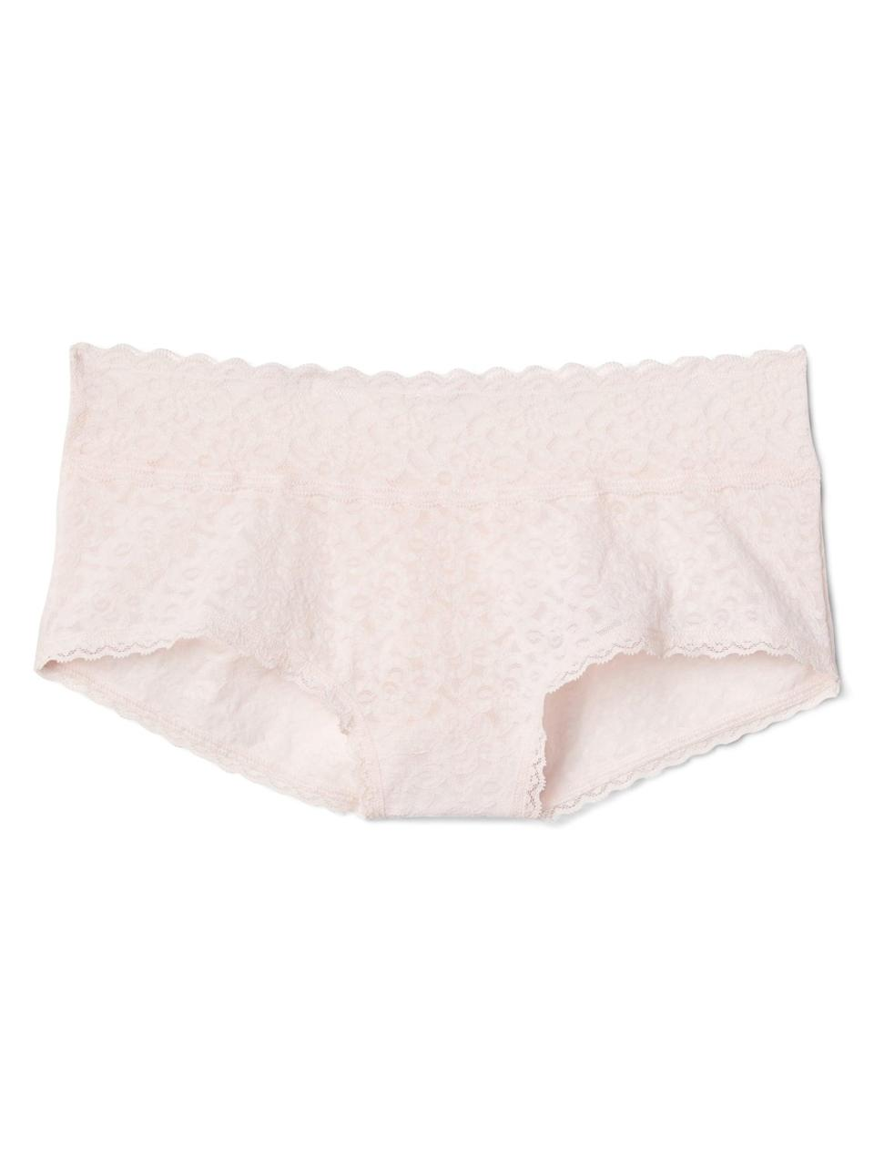 <p>We love the sweet, soft pink of this <span>Gap Lace Shorty</span> ($8, originally $11).</p>