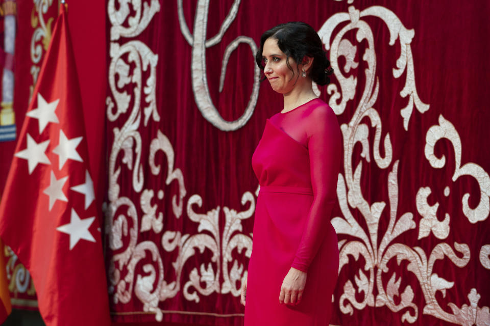 The president of the Community of Madrid Isabel Diaz Ayuso, during the act of her inauguration, in the Real Casa de Correos de la Puerta del Sol, on 19 June, 2021 in Madrid, Spain.  (Photo by Oscar Gonzalez/NurPhoto via Getty Images)