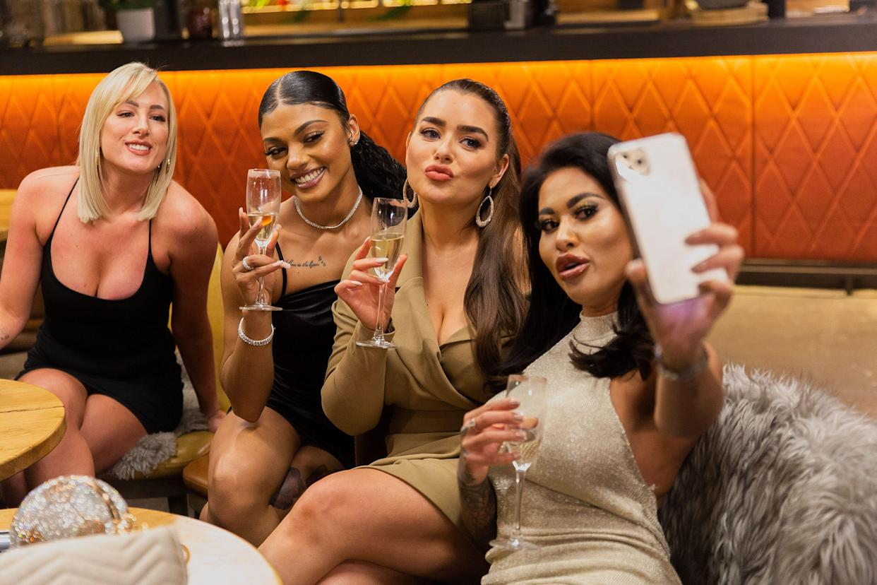 Pictured: (L-R) Morag, Alexis, Amy and Nikita at the hen party.