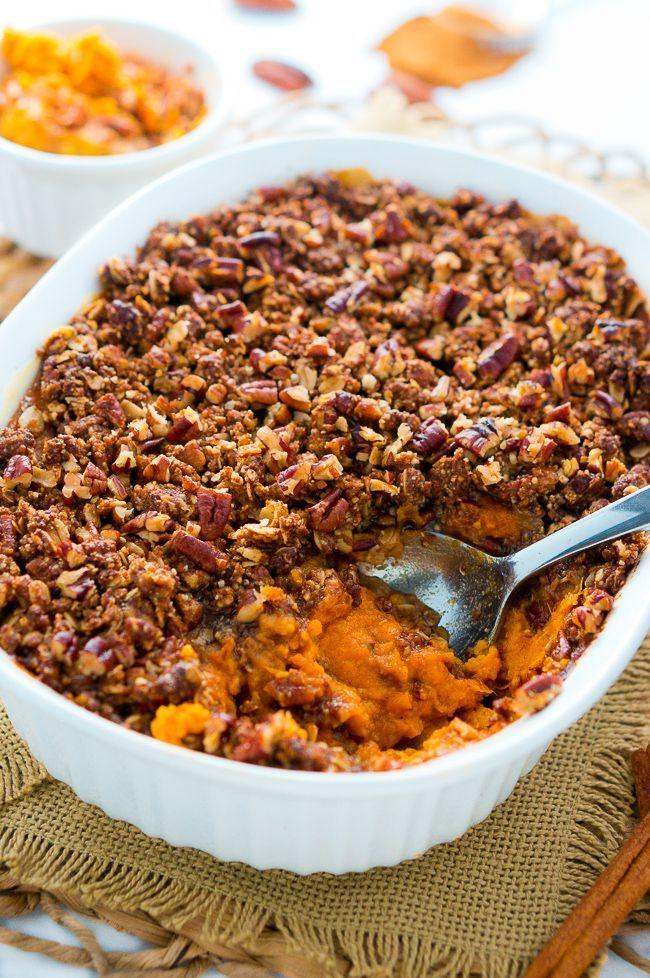 """<p>This deep-dish delicacy is guaranteed to turn a few heads at your next dinner party.</p><p><strong>Get the recipe at <a href=""""http://www.deliciousmeetshealthy.com/sweet-potato-casserole/"""" rel=""""nofollow noopener"""" target=""""_blank"""" data-ylk=""""slk:Delicious Meets Healthy"""" class=""""link rapid-noclick-resp"""">Delicious Meets Healthy</a>.</strong></p>"""