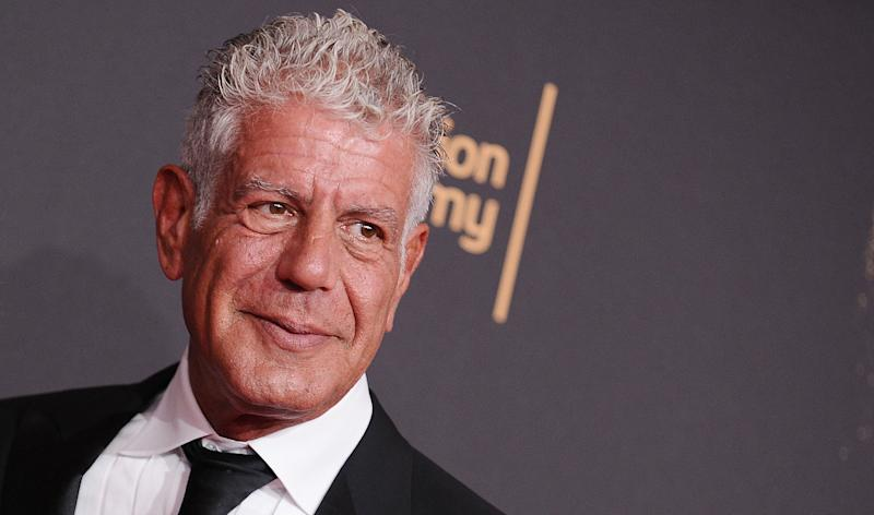 Anthony Bourdain attends the 2017 Creative Arts Emmy Awards at Microsoft Theater on September 9, 2017.