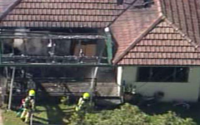 The fire which destroyed the Auburn home is believed to have been caused by a gas heater. Source: 7 News.