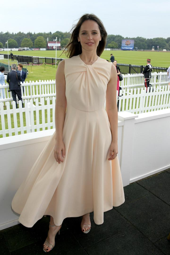 The actress chose an Emilia Wickstead gown in powder pink for the final raceday event. <em>[Photo: Getty]</em>