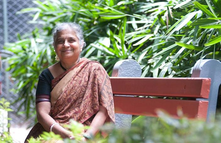 Sudha Murty(Photo by Aniruddha Chowdhury/Mint via Getty Images)