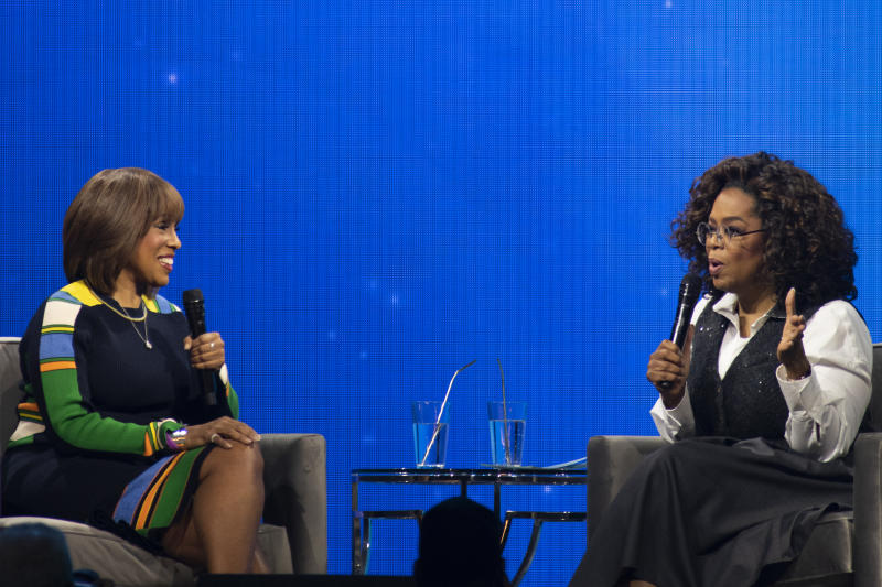 In an online conversation for WW, Oprah Winfrey and best friend Gayle King discussed the recent upheaval across the country. (Photo: Tom Cooper/Getty Images for Oprah)