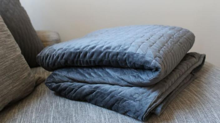 A weighted blanket to de-stress and stay warm