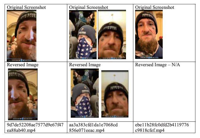 Facebook provided the federal government with images from Chris Spencer's livestream as part of a search warrant return. (Photo: FBI)
