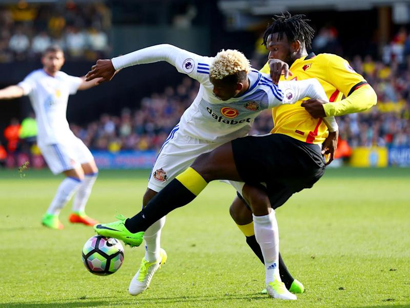 Dider N'dong and Isaac Success tussle for possession (Getty)