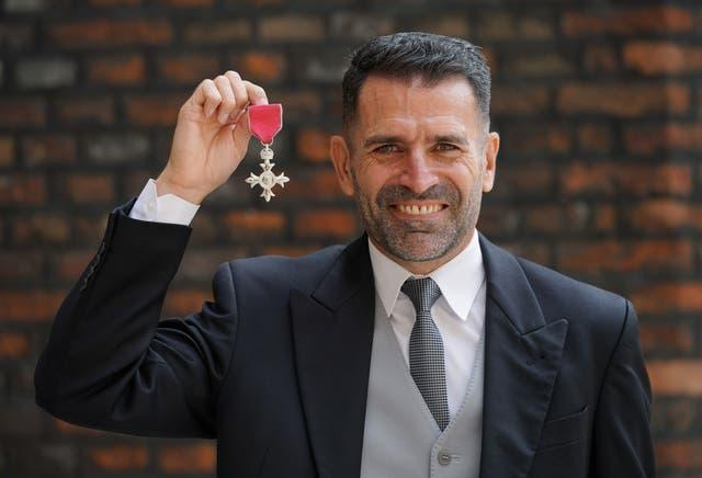 Francis Benali was made an MBE following an investiture ceremony at St James's Palace this month
