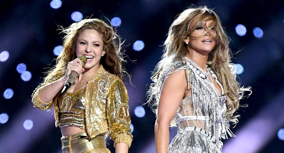 Shakira e Jennifer Lopez no show do intervalo do Super Bowl 2020 (Foto: Jeff Kravitz/FilmMagic)