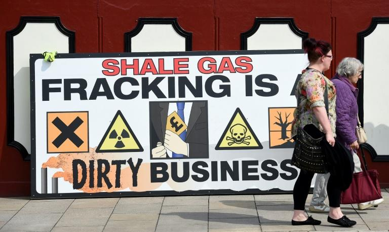 Public opposition to fracking in Britain is on the rise (AFP Photo/Paul ELLIS)