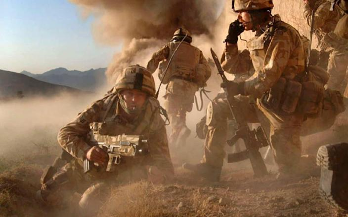 British soldiers on Operation Volcano against Taliban forces in the village of Barikyu in Nothern Helmand Province - MoD /PA