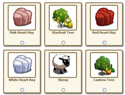 farmville heart-shaped haybales - aw, how sweet