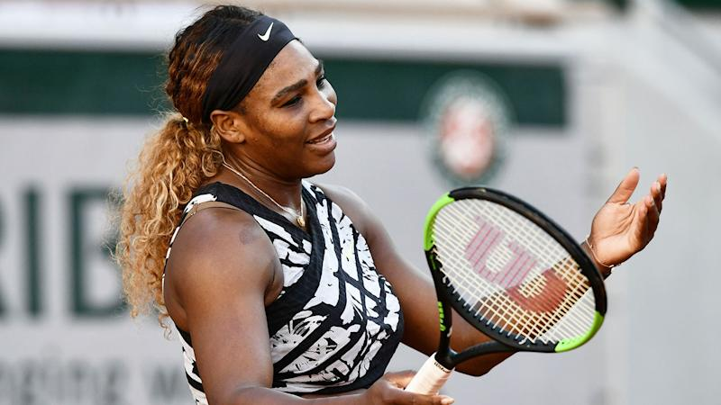 Serena Williams is seen here looking frustrated at the French Open.