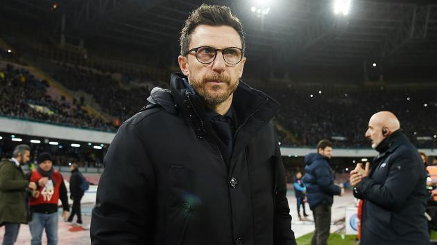 <p>Roma happy to face 'best in the world' Messi and Barcelona, says Di Francesco</p>