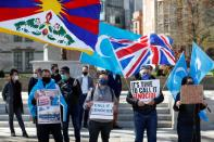 FILE PHOTO: Protest against Uyghur genocide, in London