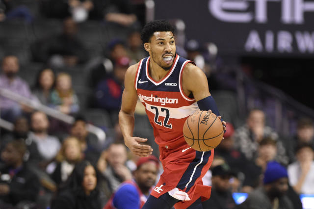 """<a class=""""link rapid-noclick-resp"""" href=""""/nba/players/5154/"""" data-ylk=""""slk:Otto Porter"""">Otto Porter</a> has two years and $55.6 million remaining on his deal. (AP Photo/Nick Wass)"""