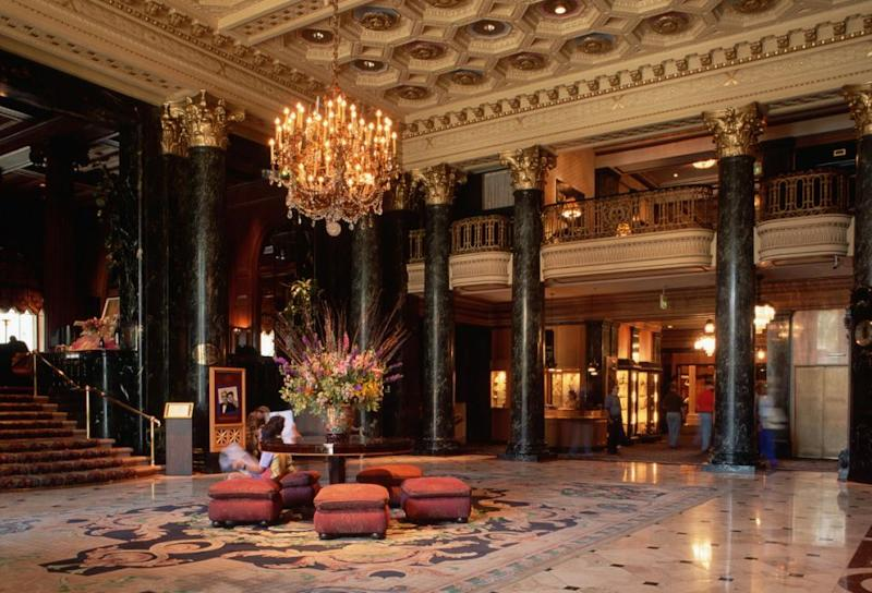Haunted SF tours take you through the grand foyer of the Westin St. Francis. As well as the ghost of Virginia Rappe, the Westin is also allegedly haunted by an entertainer who died during a poker game in 1950. Photo: Getty