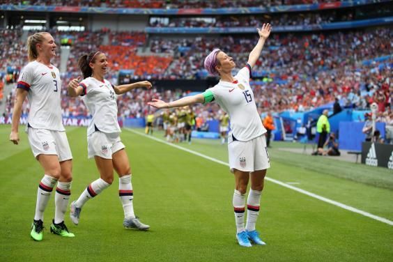 Rapinoe sparked debate during the Women's World Cup (Getty Images)