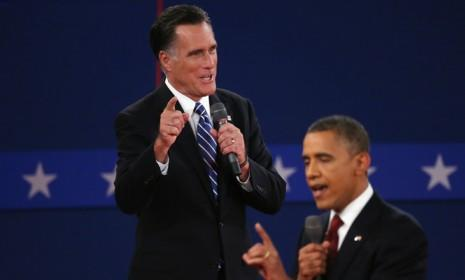Mitt Romney and Barack Obama during the second presidential debate: Their third and final debate will take place tonight in Boca Raton, Florida.
