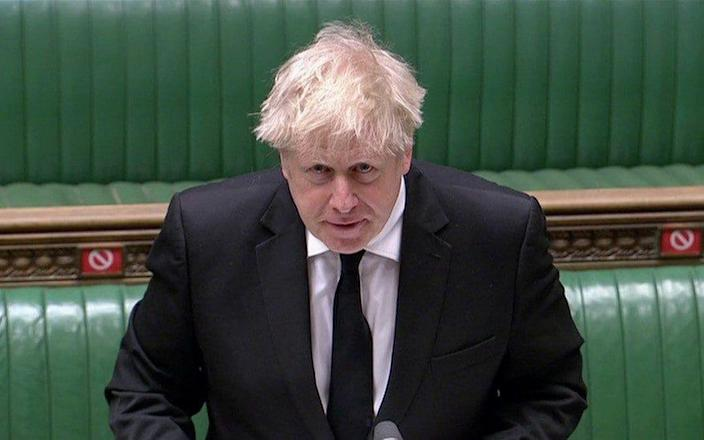 Boris Johnson speaks during PMQs - Reuters