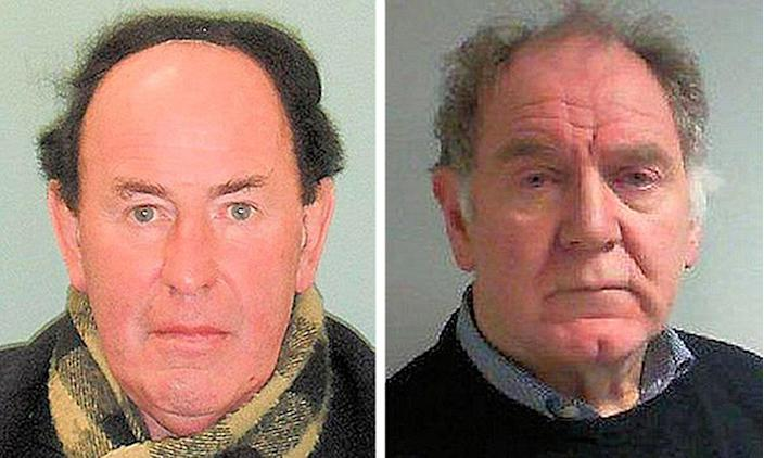 Christ's Hospital School Gary Dobbie (left) and James Husband. Husband was jailed for 17 years and is the fifth Christ's Hospital School teacher to be convicted of sexually abusing students over a period spanning more than 30 years. (PA)