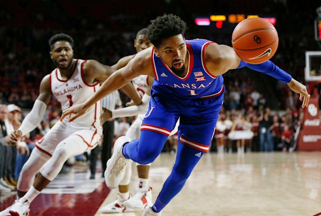 Kansas won't be winning the Big 12 regular season title for the first time since Bill Self's first season in Lawrence. (AP Photo/Nate Billings)