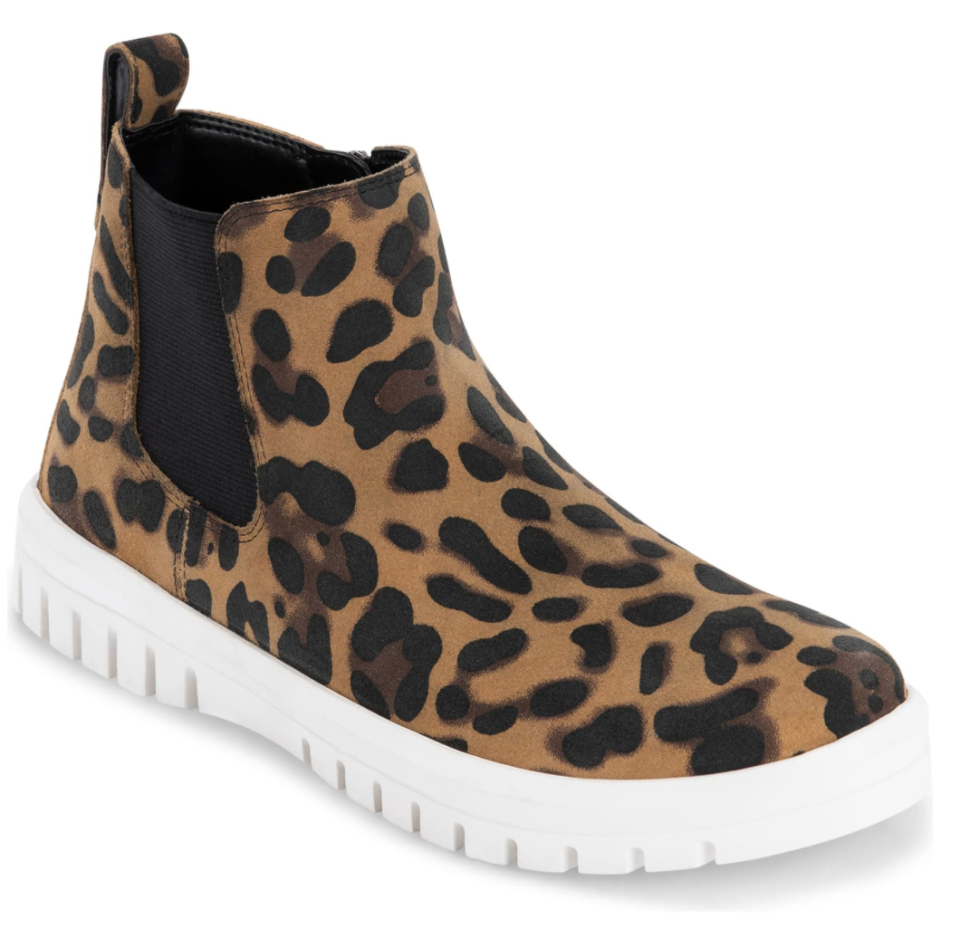 Blondo Flora Waterproof Bootie in Leopard Suede