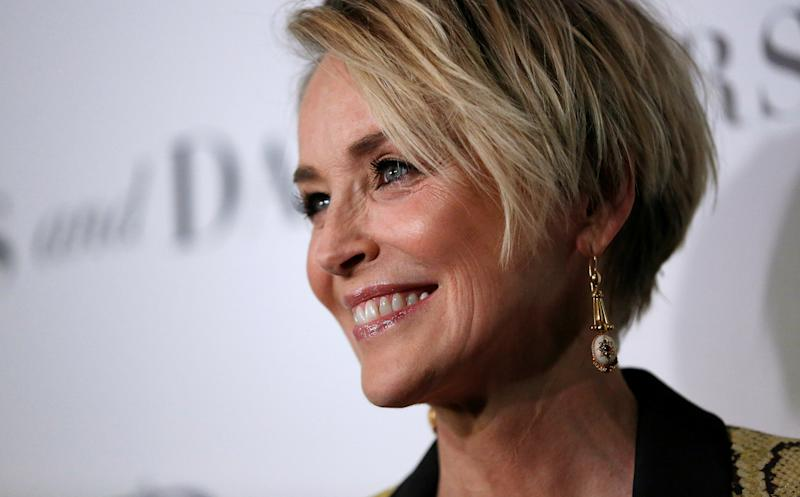 "Cast member Sharon Stone poses at a premiere for ""Mothers and Daughters"" at The London Hotel in West Hollywood, U.S., April 28, 2016. REUTERS/Mario Anzuoni"