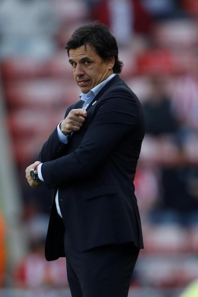"Soccer Football - Championship - Sunderland v Burton Albion - Stadium of Light, Sunderland, Britain - April 21, 2018 Sunderland manager Chris Coleman Action Images/Lee Smith EDITORIAL USE ONLY. No use with unauthorized audio, video, data, fixture lists, club/league logos or ""live"" services. Online in-match use limited to 75 images, no video emulation. No use in betting, games or single club/league/player publications. Please contact your account representative for further details."