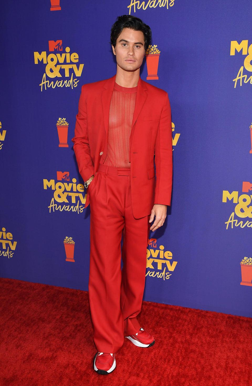 Chase Stokes attends the 2021 MTV Movie Awards on May 16
