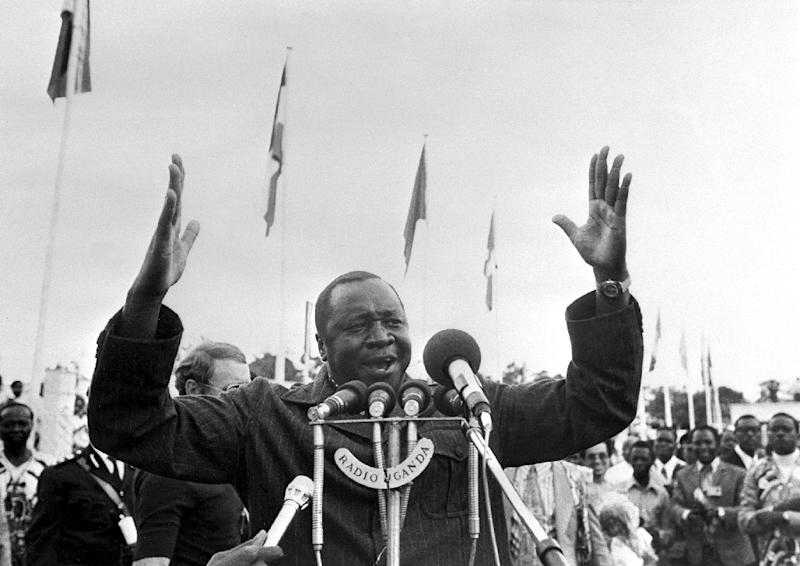 The late Ugandan dictator Idi Amin's reign of terror lasted from 1971, when he seized power from Milton Obote, to 13 April 1979, when Tanzanian troops and exiled Ugandans stormed Kampala and removed him from power (AFP Photo/)