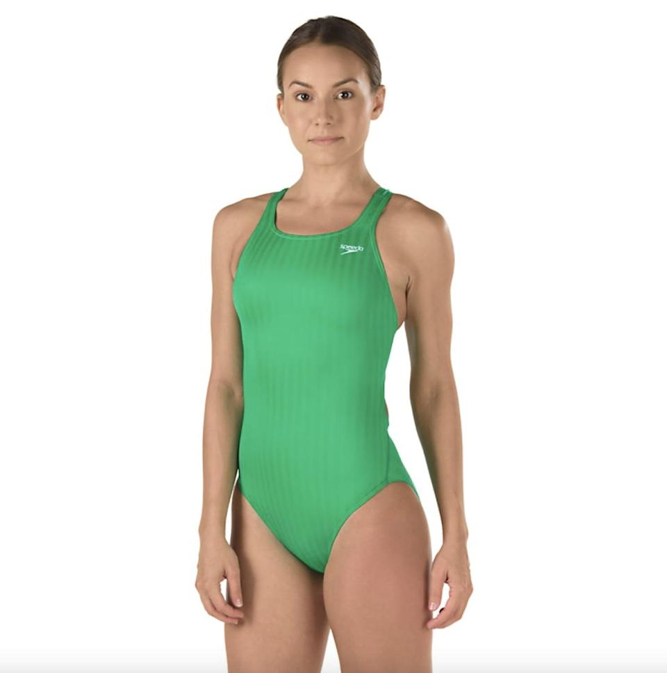 <p>You can't go wrong with this classic <span>Aquablade Recordbreaker Performance Swimsuit</span> ($89). </p>