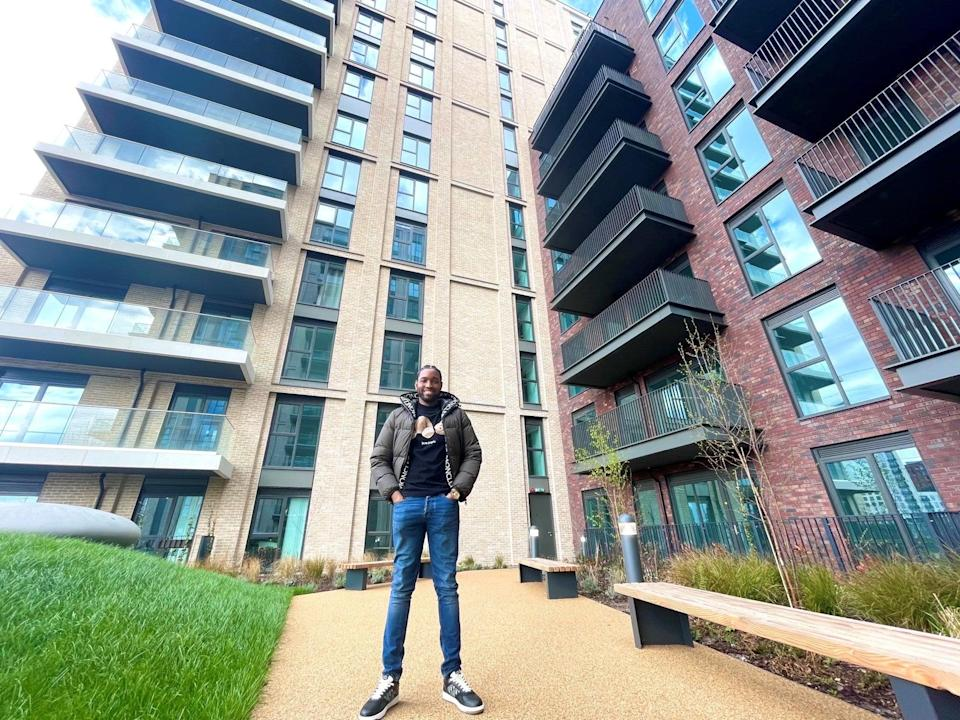 Ticks all the boxes: Chinedu Okafor spotted his new home from a DLR train, using Help to Buy to snap up a two-bedroom apartment